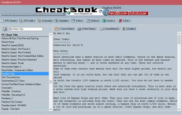 CheatBook para Windows ofrece trucos para juegos de PC 1