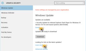 Cómo buscar actualizaciones en Windows 10