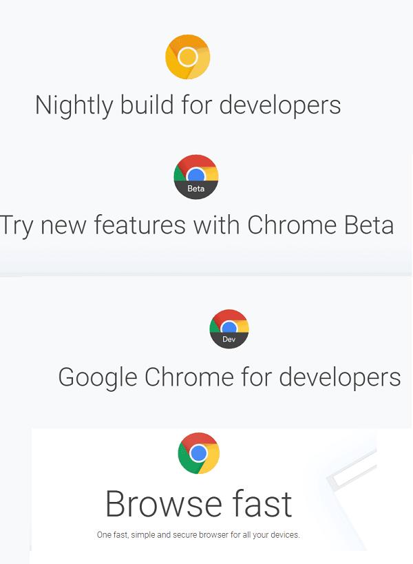 ¿Qué son los canales Chrome Stable, Beta, Dev y Canary Release?