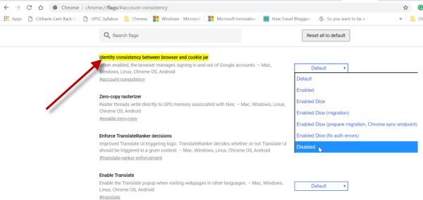 Evitar que Google inicie sesión en el navegador Chrome al acceder a un servicio de Google.