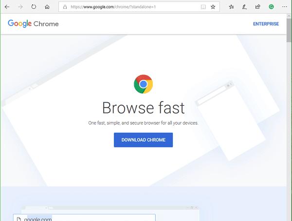 Cómo descargar la configuración del programa de instalación de Google Chrome Offline Installer para PC con Windows