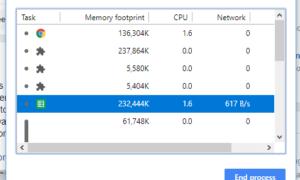 Corregir el uso de CPU, memoria o disco con alto contenido de cromo en Windows 10