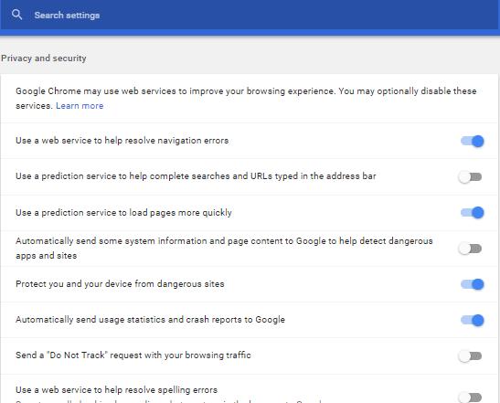 Cómo desactivar la función Chrome URL Autocompletar en el PC con Windows
