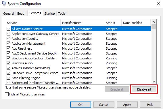 El servicio de audio no funciona en Windows 10/8/7