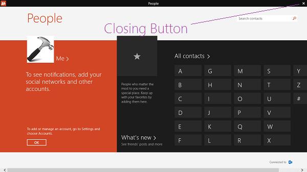 Corrección: Cerrar todas las aplicaciones modernas que no regresan a la pantalla de inicio en Windows 8.1 1