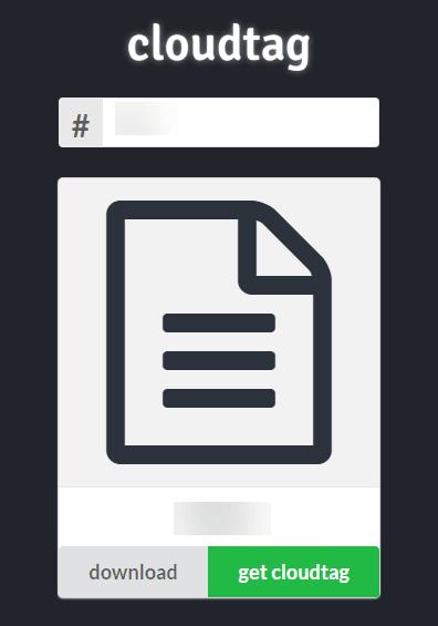 Cloudtag te permite subir y compartir archivos usando Hashtag