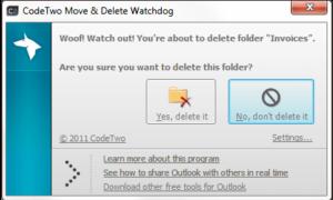 CódigoDos Mover y Eliminar Watchdog: Evite la pérdida accidental de datos desde Outlook