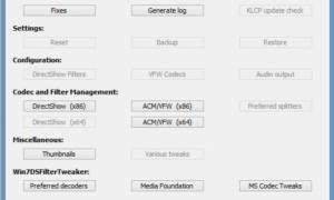 Herramienta de ajuste de códecs: Gestione, detecte y elimine los códecs y filtros rotos