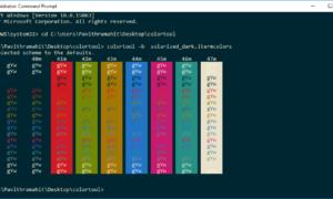 Usar ColorTool para cambiar la combinación de colores del símbolo del sistema y descargar más combinaciones de colores