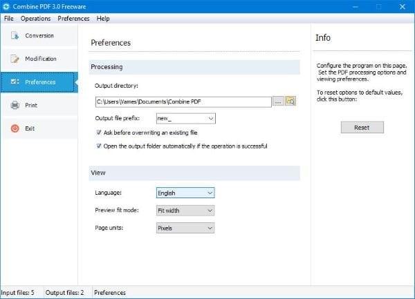 Combine varios PDF en un solo documento PDF con Combine PDF freeware 3