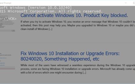 Símbolo del sistema operativo en Windows 10 - ¡Hágalo transparente!