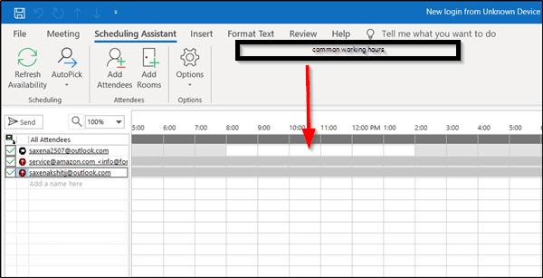 Cómo mostrar sus horas de trabajo a sus colegas en Outlook