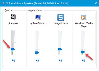 Volumen de sonido del ordenador demasiado bajo en Windows 10/8/7 3