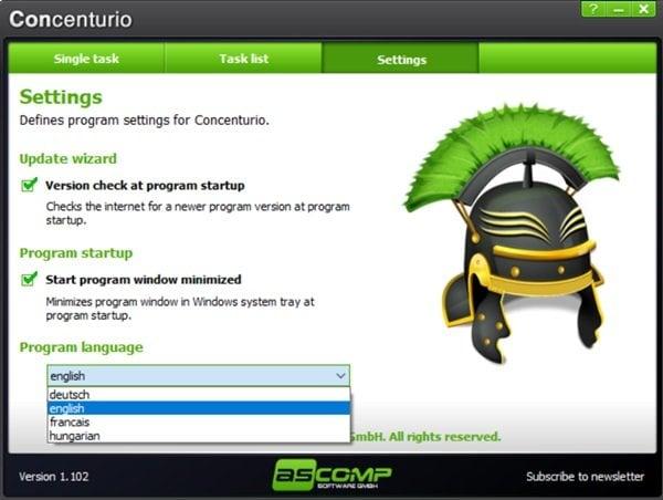 Concenturio es un programa gratuito de recordatorio de alarmas para PC con Windows