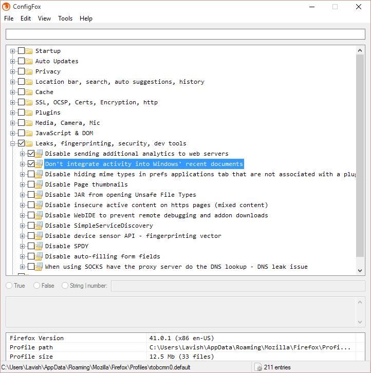 ConfigFox: Configurar y ajustar fácilmente Firefox sobre:config settings