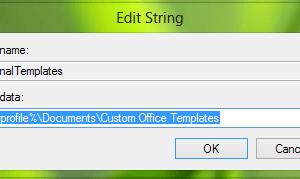 Crear plantillas personalizadas Lugar de instalación para Office 2016/2013