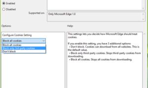 Configurar cómo trata Microsoft Edge a las cookies