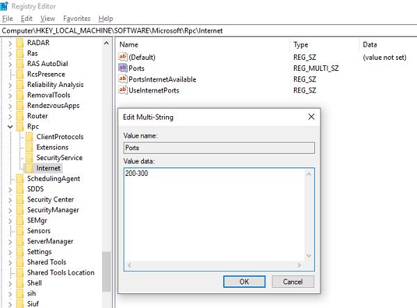 Cómo configurar el puerto dinámico RPC a través de Firewall usando Registry 1