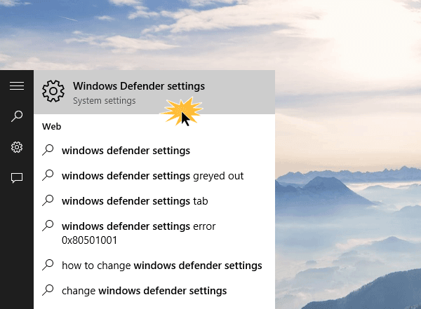 Cómo configurar Windows Defender en Windows 10 2
