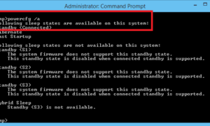 Estado de energía InstantGo en Windows 10/8.1