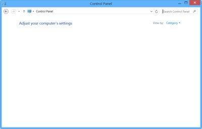 Panel de control o ventana Restaurar sistema en blanco en Windows 10/8/7 1