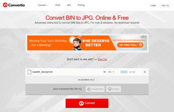 Cómo convertir BIN a ISO o BIN a formato de archivo JPG