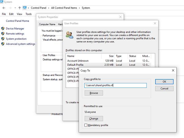 Cómo crear Perfiles de usuario obligatorios en Windows 10 2
