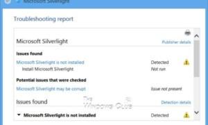 Limpieza de la instalación de Silverlight dañado en Windows
