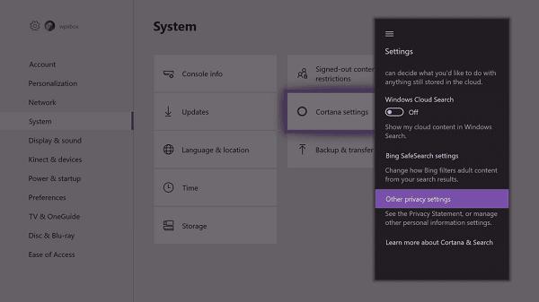 Cortana no puede oírme en PC o XBox One. 1