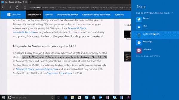 Utiliza Cortana para hacer más fácil la compra de Navidad en Windows 10 2