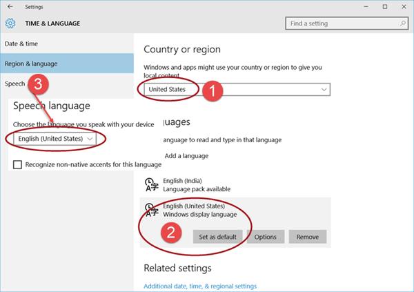 Cortana no está disponible en Windows 10