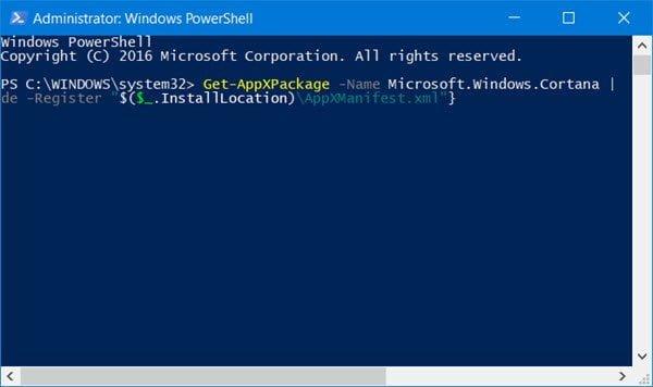 Windows 10 Start Search no muestra los resultados; muestra el blanco en blanco