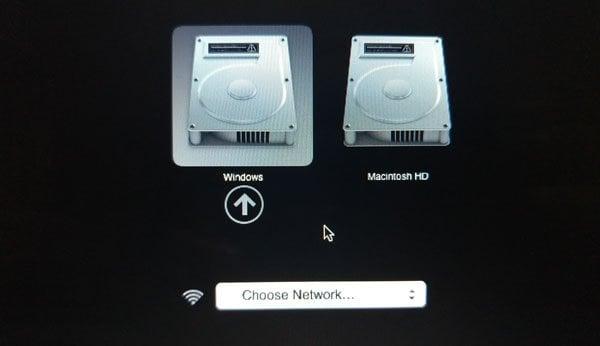 Boot Camp no pudo cambiar entre Windows y Mac OS