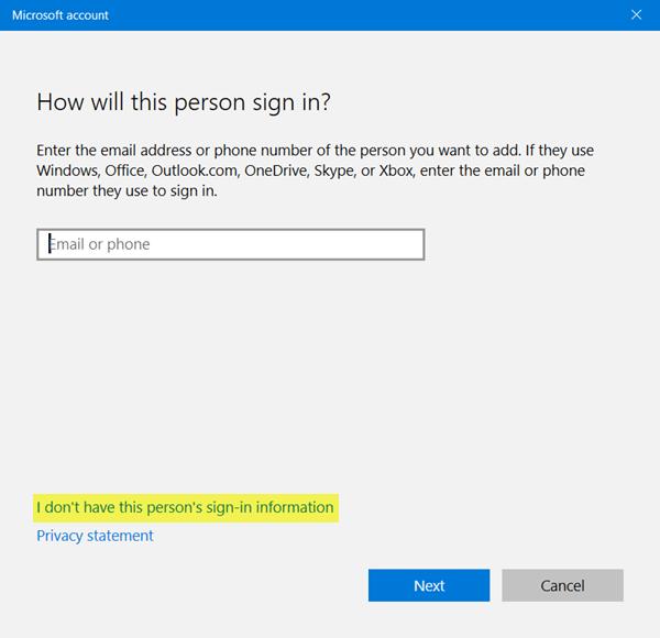 Cómo crear una nueva cuenta de usuario en Windows 10/8.1 2