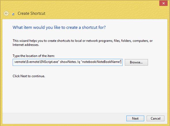Cómo crear un acceso directo para Evernote Tag y Notebook