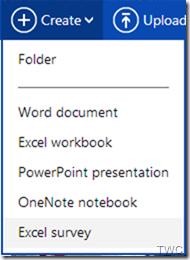 Cómo usar la función de Encuesta de Excel, ahora disponible en SkyDrive 1