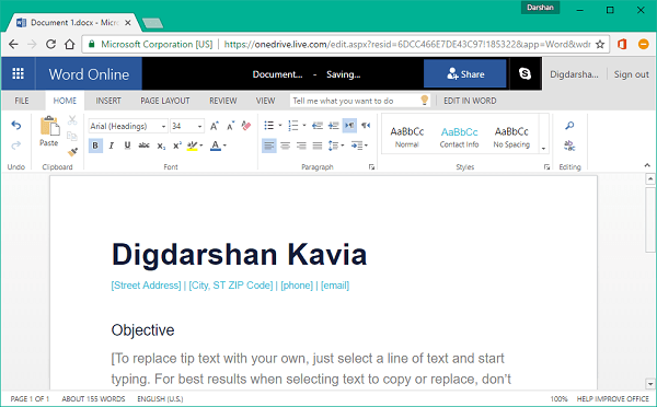 Crear documentos de Office en Edge y Chrome con la extensión de Office Online
