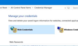 Administrador de Credenciales de Windows y Bóveda de Windows