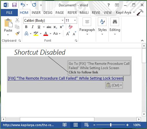 Habilitar o deshabilitar el acceso directo Ctrl+Click para abrir hipervínculos en Word