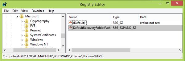 Cambiar la ubicación predeterminada para guardar la clave de recuperación de BitLocker 5