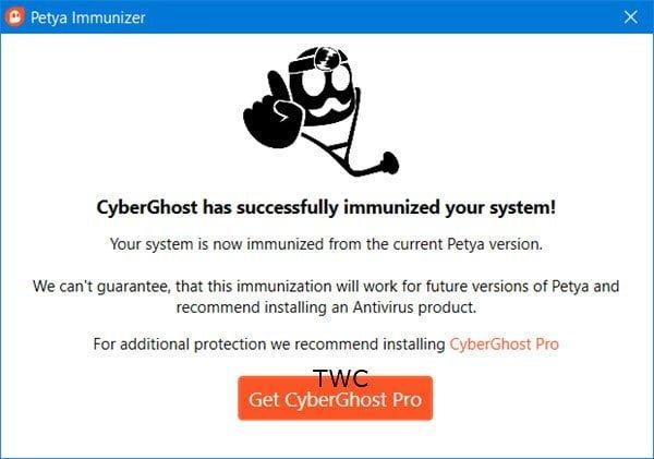 CyberGhost Immunizer ayudará a prevenir los ataques de ransomware