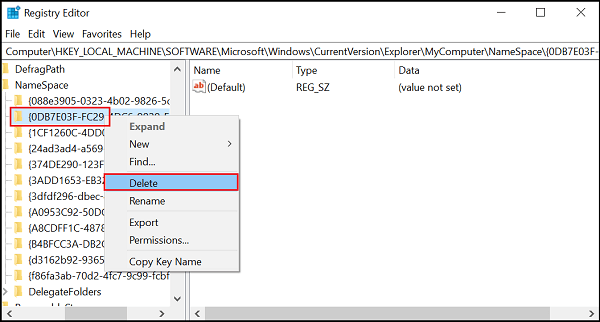 Quitar la carpeta Objetos 3D en Esta PC en Windows 10 3