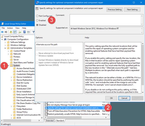 DISM falla en Windows 10. Los archivos fuente no se han podido encontrar