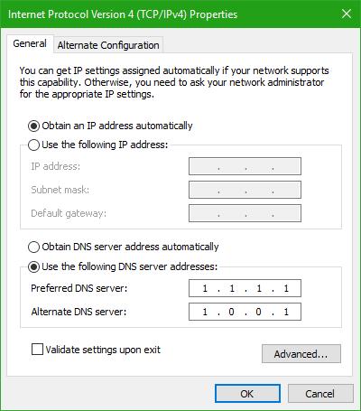 Cómo configurar y utilizar el nuevo servicio DNS de CloudFlare 1.1.1.1.1