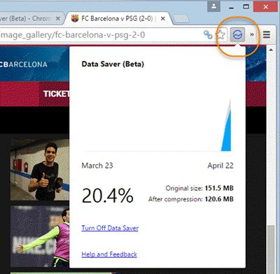 Salvador de datos de Google: Ahorra ancho de banda mientras navegas en Chrome 1