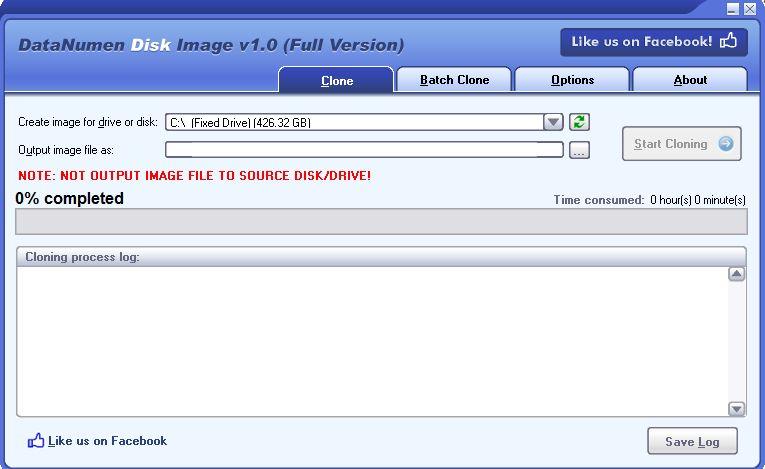 Cree clones de unidades y recupere datos con la imagen de disco DataNumen