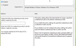 Cómo asignar un proveedor de credenciales predeterminado en Windows 10