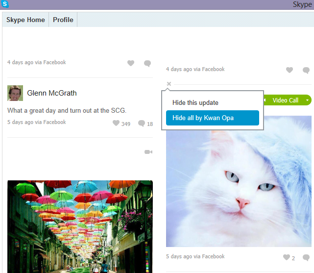 Desactivar Skype Home desde tu cuenta de Skype