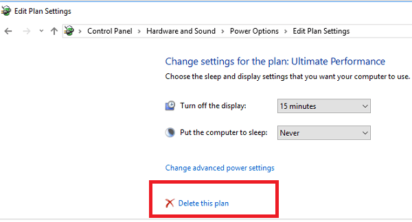 Cómo habilitar Ultimate Performance Power Plan en Windows 10