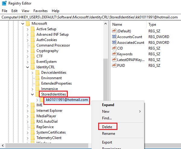 Otro usuario de este dispositivo utiliza esta cuenta de Microsoft, por lo que no puede agregarla aquí.